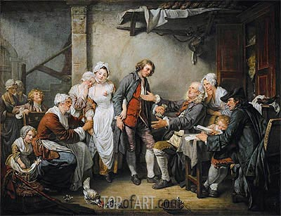 The Village Agreement, 1761 | Jean-Baptiste Greuze| Gemälde Reproduktion