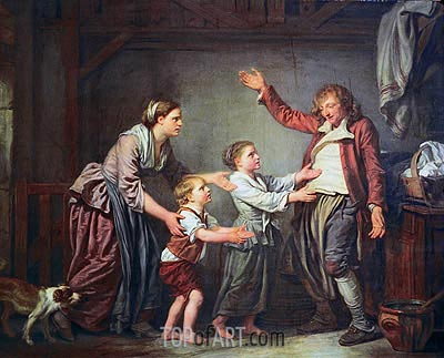 The Drunken Cobbler, c.1780/85 | Jean-Baptiste Greuze| Painting Reproduction
