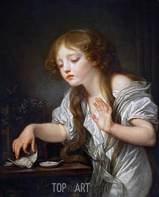 The Dead Bird, c.1800 | Jean-Baptiste Greuze| Painting Reproduction