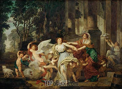 Innocence Swept Along by Love, c.1786 | Jean-Baptiste Greuze| Painting Reproduction