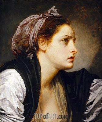 Jean-Baptiste Greuze | Study Head of a Woman, undated