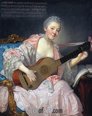 Jean-Baptiste Greuze | Anne-Marie de Bricqueville de Laluserne, Marquise de Bezons, c.1759