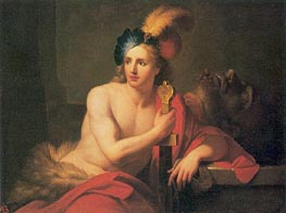 David with Goliath's Head, undated by Jean-Baptiste Nattier | Painting Reproduction