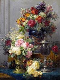 Frühlingsblumen mit Kelche, undated von Jean-Baptiste Robie | Gemälde-Reproduktion