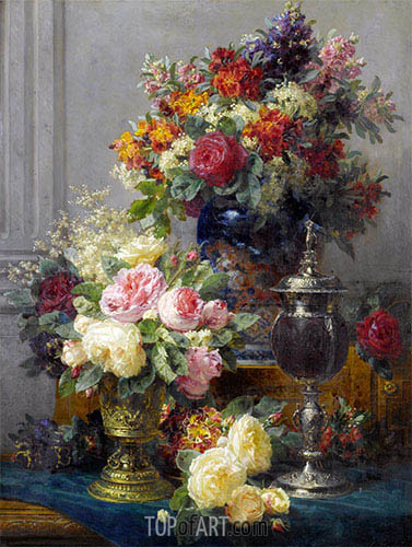 Jean-Baptiste Robie | Spring Flowers with Chalices, undated