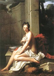 Susanna at the Bath, 1704 von Jean-Baptiste Santerre | Gemälde-Reproduktion