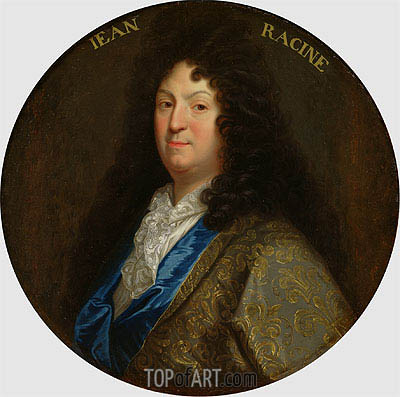 Portrait of Jean Racine,  | Jean-Baptiste Santerre | Painting Reproduction