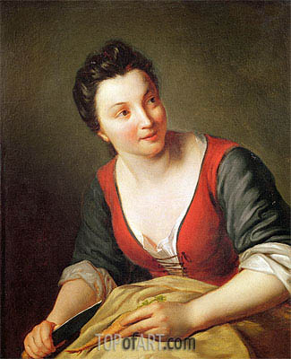 The Cook,  | Jean-Baptiste Santerre | Painting Reproduction