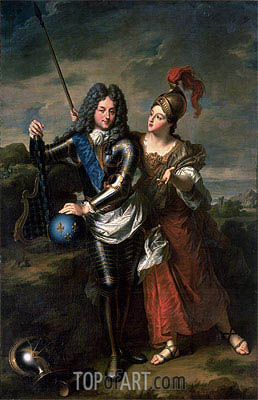Philippe II d'Orleans the Regent of France and Madame de Parabere as Minerva, c.1716 | Jean-Baptiste Santerre | Painting Reproduction
