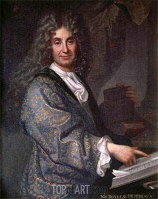 Nicolas Boileau, undated | Jean-Baptiste Santerre | Painting Reproduction