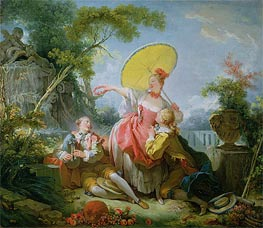 The Musical Contest, c.1754 by Fragonard | Painting Reproduction