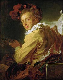 Man Playing an Instrument (The Music) | Fragonard | Painting Reproduction