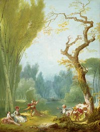 A Game of Horse and Rider | Fragonard | Painting Reproduction