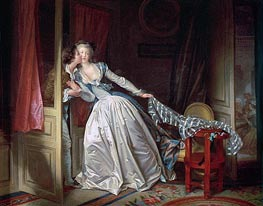 The Stolen Kiss, c.1785/90 by Fragonard | Painting Reproduction