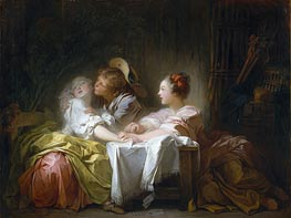 The Stolen Kiss | Fragonard | Painting Reproduction