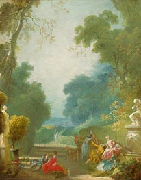 A Game of Hot Cockles, c.1767/73 by Fragonard | Painting Reproduction