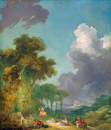 The Swing, c.1765 by Fragonard | Painting Reproduction