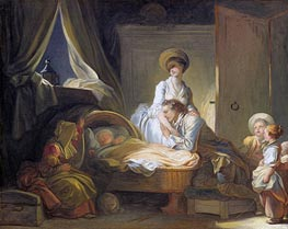 The Visit to the Nursery, c.1780/84 by Fragonard | Painting Reproduction