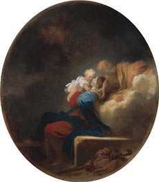 Rest on the Flight, c.1750 by Fragonard | Painting Reproduction