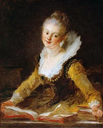 The Study | Fragonard | Gemälde Reproduktion