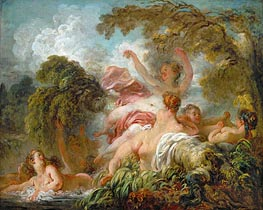 The Bathers, c.1765 by Fragonard | Painting Reproduction