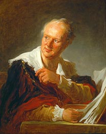 Denis Diderot, c.1769 by Fragonard | Painting Reproduction