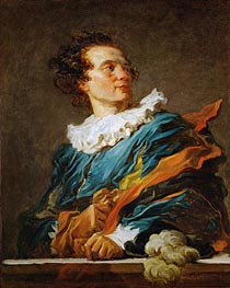 Figure of Fantasy: Portrait of the Abbot of Saint-Non, 1769 by Fragonard | Painting Reproduction