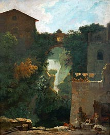 The Falls of Tivoli | Fragonard | Gemälde Reproduktion