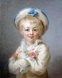 A Boy as Pierrot, c.1780 by Fragonard | Painting Reproduction