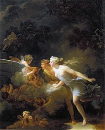 The Fountain of Love, c.1785 by Fragonard | Painting Reproduction