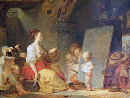 Say Please, c.1780 by Fragonard | Painting Reproduction