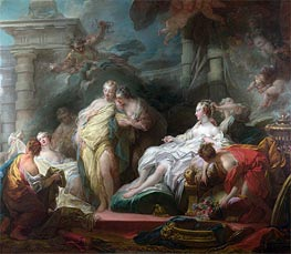 Psyche showing her Sisters her Gifts from Cupid, 1753 by Fragonard | Painting Reproduction