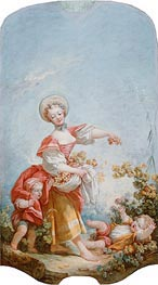 The Grape Gatherer, c.1748/52 by Fragonard | Painting Reproduction
