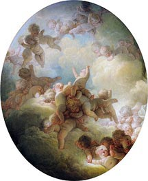 The Swarm of Cupids, c.1767 by Fragonard | Painting Reproduction