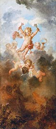 The Progress of Love: Love Triumphant, c.1790/91 by Fragonard | Painting Reproduction