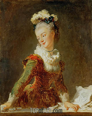 Marie-Madeleine Guimard, Dancer, c.1769 | Fragonard| Painting Reproduction
