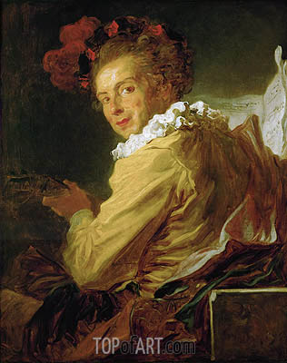 Fragonard | Man Playing an Instrument (The Music), 1769