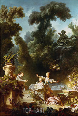 The Pursuit, c.1771/73 | Fragonard | Painting Reproduction