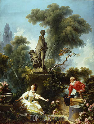 The Meeting, c.1771/73 | Fragonard | Gemälde Reproduktion