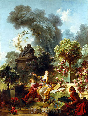 The Lover Crowned, c.1771/73 | Fragonard | Gemälde Reproduktion