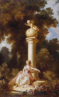 Reverie, c.1771/73 | Fragonard | Painting Reproduction