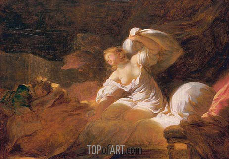 The Useless Resistance (La Resistance Inutile), c.1770 | Fragonard | Painting Reproduction