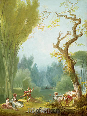 Fragonard | A Game of Horse and Rider, c.1767/73