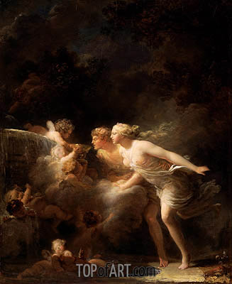 The Fountain of Love, c.1785 | Fragonard | Painting Reproduction