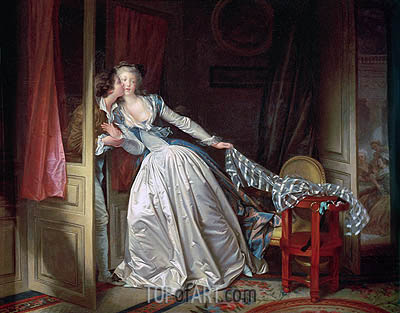 The Stolen Kiss, c.1785/90 | Fragonard| Painting Reproduction