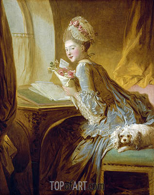 The Love Letter, c.1770 | Fragonard | Painting Reproduction