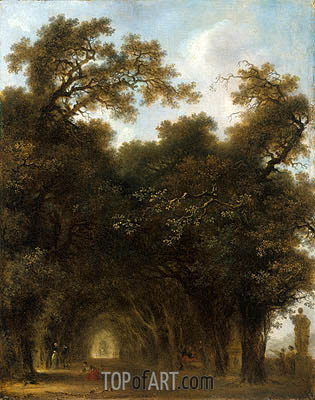 Fragonard | A Shaded Avenue, c.1773