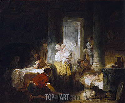 Italian Interior, c.1760 | Fragonard | Painting Reproduction