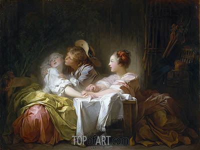 The Stolen Kiss, c.1756/61 | Fragonard | Gemälde Reproduktion