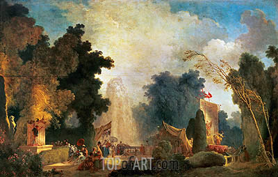 Fragonard | The Fete at Saint-Cloud, undated